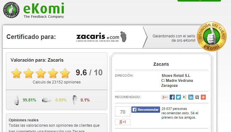 pérdida Comparar fuente  Zacaris Opiniones 2021 sobre la tienda de zapatos y bolsos online