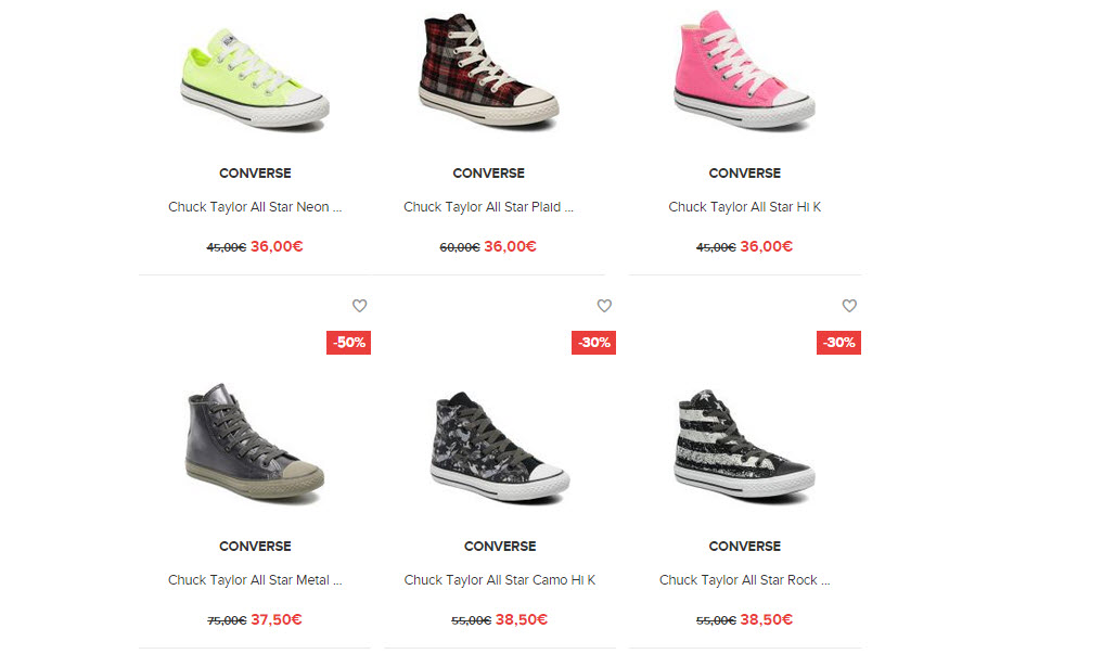 sarenza converse all star