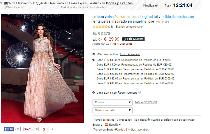 Opiniones vestidos de novia lightinthebox