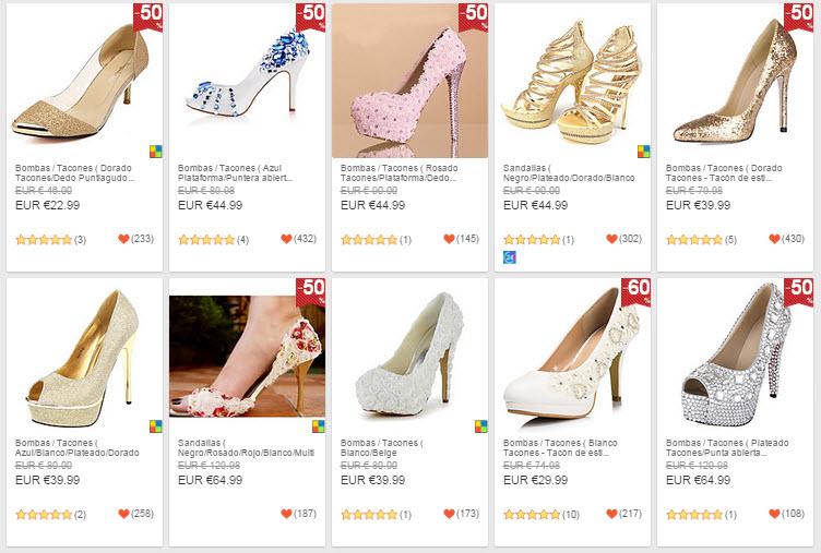lightinthebox zapatos de novia