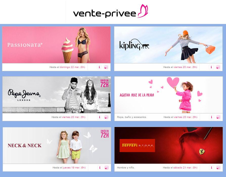 ventas privadas de ropa 2015