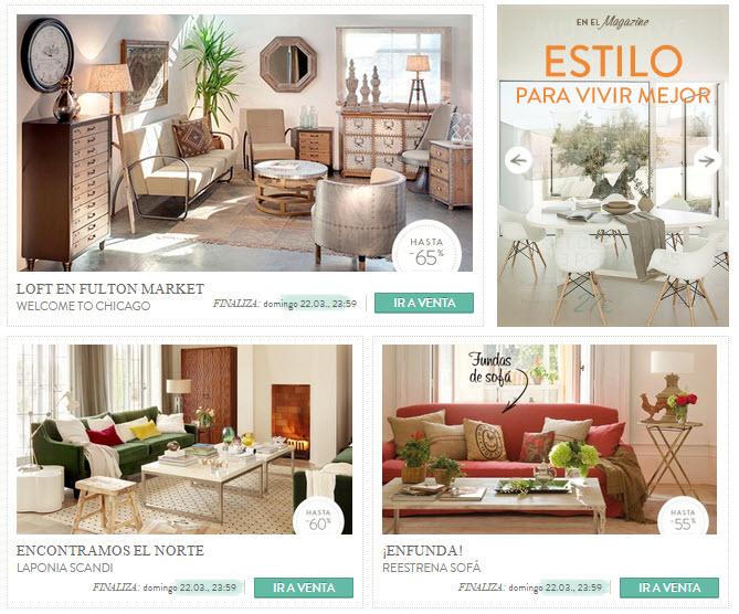 ventas privadas muebles 2015
