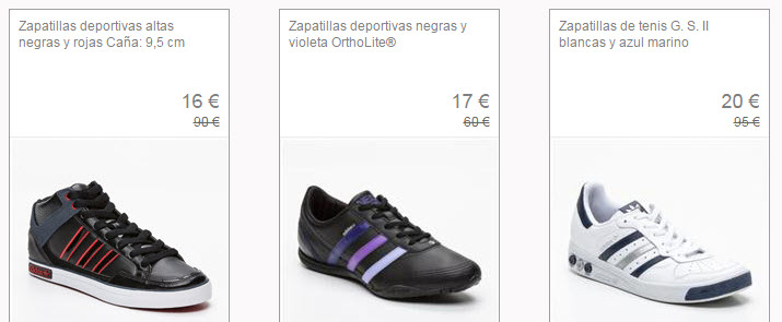 venta privada zapatillas adidas