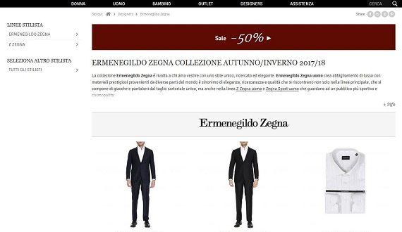 Outlet Ermenegildo Zegna: rebajas y outlet online de trajes y camisas